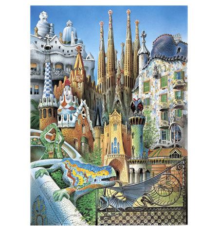 Puzzle 1000 MINI – Collage de Gaudí
