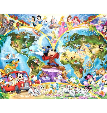 Puzzle 1000 – DISNEY – Mapamundi Disney