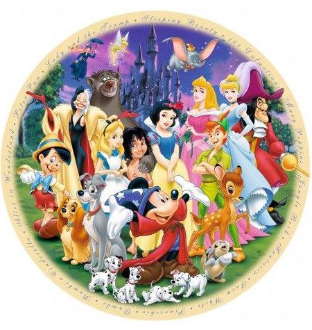 Puzzle 1000 – DISNEY – Redondo Personajes