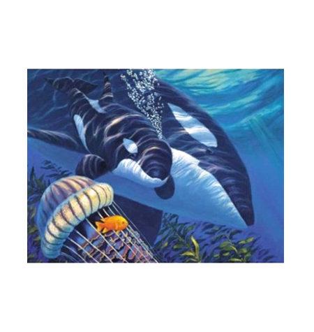 Puzzle 1500 Orcas al lado de su madre