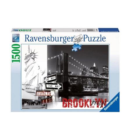 Puzzle 1500 B/N Puente Brookling + Estatua Libertad