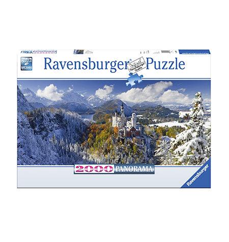 Puzzle 2000 Neuschwanstein – Panorámico