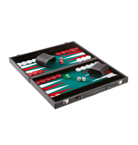 Backgammon XL Fieltro Negro/Verde Competición