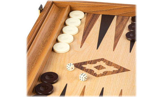 Backgammon Grande Madera-EF. NOGAL CLARO