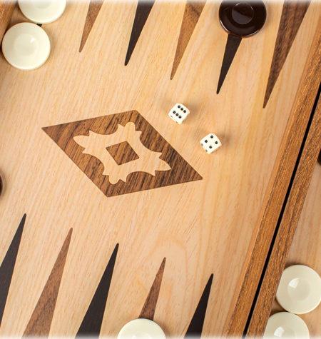 Backgammon Pequeño Madera-EF. NOGAL Sin Barra