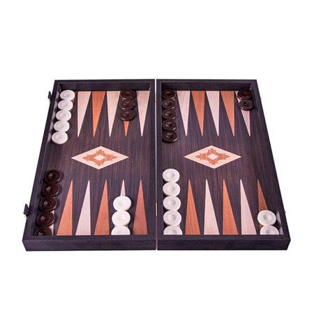 Backgammon Pequeño Madera-EF. WENGE Sin Barra