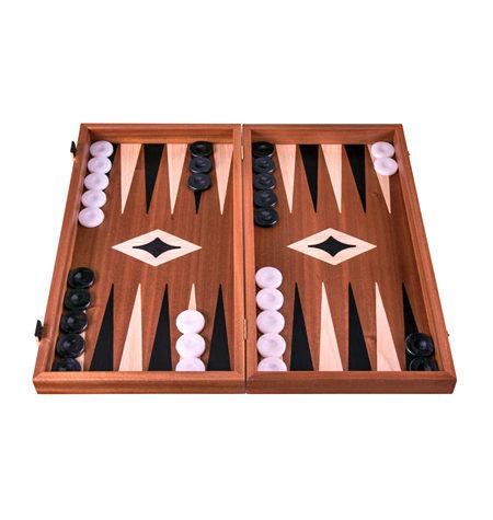 Backgammon Mediano Madera CAOBA Sin Barra