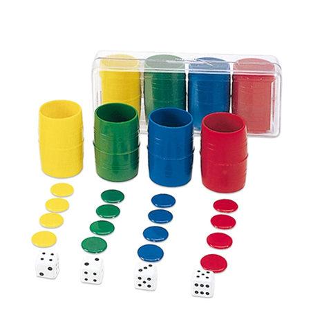 Fichas de Parchís 4 jugadores Plástico