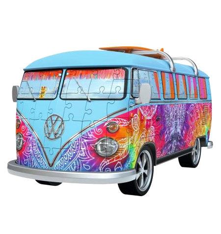 Puzzle 3D – 162 Furgoneta Volkswagen Hippie