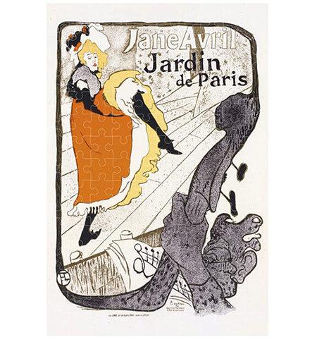 Puzzle 150 MINI Jane Avril – Jardín de Paris, Toulouse-Lautrec