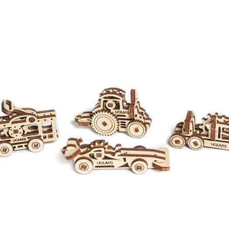 Construcción de Madera – Modelos MINI – 4 Vehículos