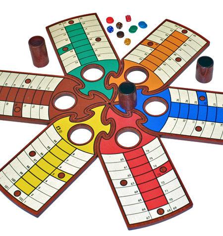 Parchís PUZZLE 6 jugadores – Caja de Madera