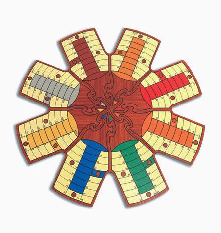 Parchís PUZZLE 8 Jugadores con Caja de Madera