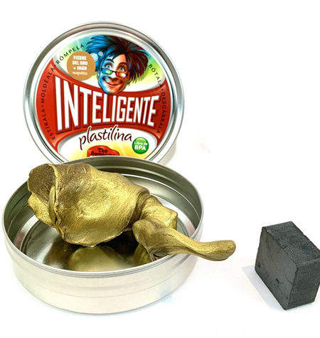Plastilina Inteligente MAGNÉTICA Oro+Imán