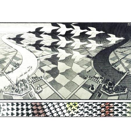 Puzzle 1000 B/N ESCHER – Día y Noche