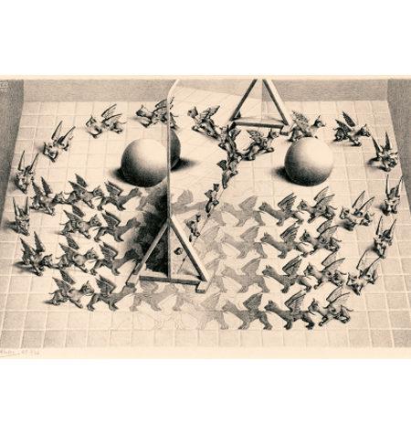 Puzzle 1000 B/N ESCHER – Espejo Mágico