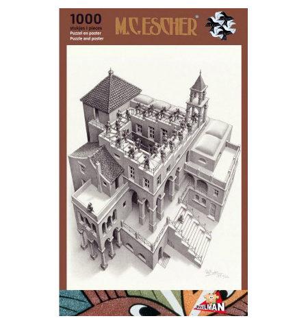 Puzzle 1000 B/N ESCHER – Subiendo y Bajando