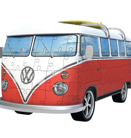 Puzzle 3D – 162 Furgoneta Volkswagen Roja
