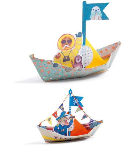 Origami Barcos sobre el Agua