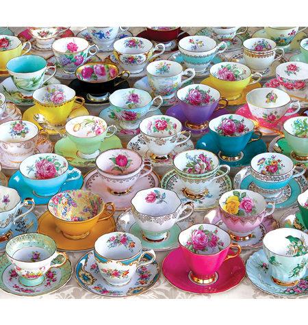 Puzzle 1000 Colección de tazas de Té