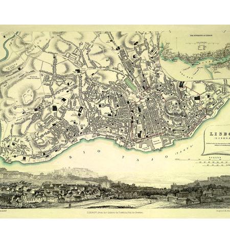 Puzzle 540 Mapa Antiguo de Lisboa