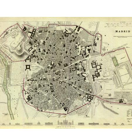 Puzzle 540 Mapa Antiguo de Madrid