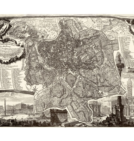 Puzzle 540 Mapa Antiguo de Roma