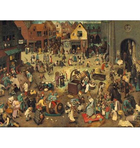 Puzzle 200 Madera – Don Carnal y Doña Cuaresma, Brueghel