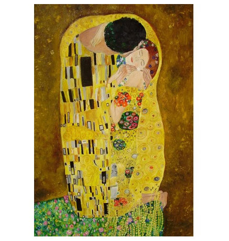 Puzzle 200 Madera – El Beso, Klimt