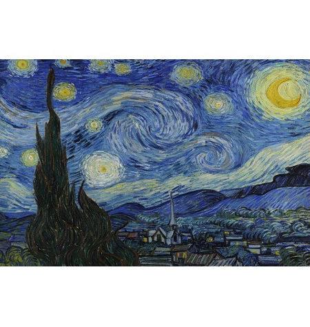 Puzzle 200 Madera – Noche Estrellada, Van Gogh