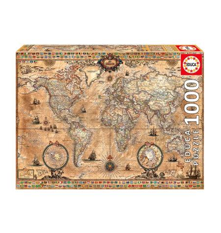 Puzzle 1000 Mapamundi Antiguo